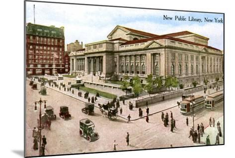 The New Public Library, New York, USA, 1910--Mounted Giclee Print