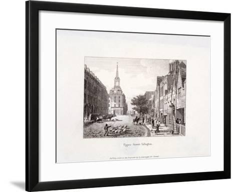 Upper Street, Islington, London, 1819-Augustus Charles Pugin-Framed Art Print