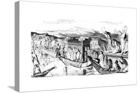 Convoy Returning with a Necropolis, Egypt, 1881--Stretched Canvas Print