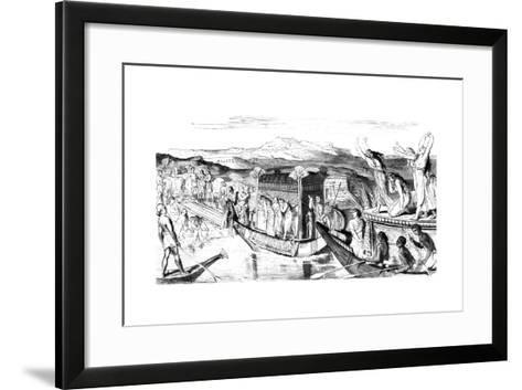 Convoy Returning with a Necropolis, Egypt, 1881--Framed Art Print