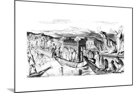 Convoy Returning with a Necropolis, Egypt, 1881--Mounted Giclee Print