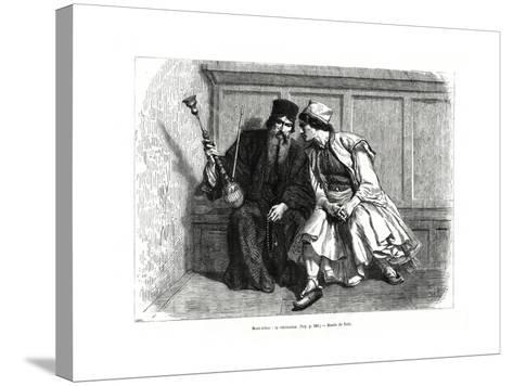 The Confession, Mount Athos, Northern Greece, 1886--Stretched Canvas Print