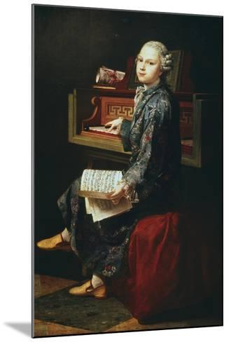 Young Musician at the Harpsicord--Mounted Giclee Print