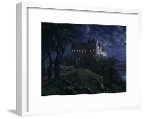 Castle Scharfenberg at Night, 1827-Ernst Ferdinand Oehme-Framed Art Print