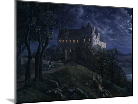 Castle Scharfenberg at Night, 1827-Ernst Ferdinand Oehme-Mounted Giclee Print