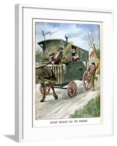 Child Kidnapped by Gypsies, 1902--Framed Art Print