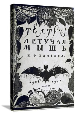 Book Cover the Theatre La Chauve-Souris (The Ba) by A. Efros, 1918-Sergei Vasilievich Chekhonin-Stretched Canvas Print