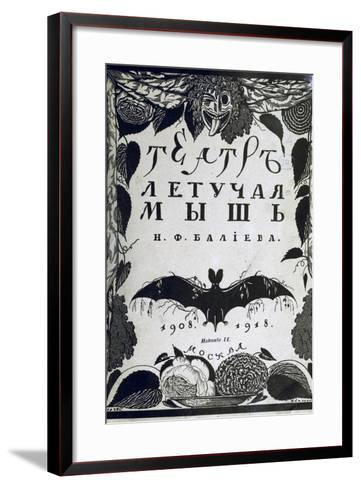 Book Cover the Theatre La Chauve-Souris (The Ba) by A. Efros, 1918-Sergei Vasilievich Chekhonin-Framed Art Print