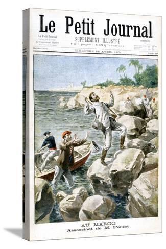 Assassination of M.Pouzet, 1901--Stretched Canvas Print