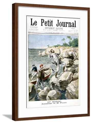 Assassination of M.Pouzet, 1901--Framed Art Print
