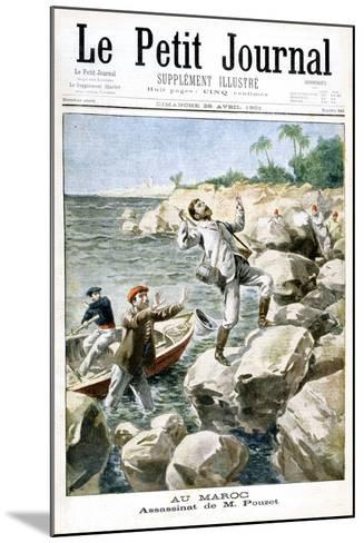 Assassination of M.Pouzet, 1901--Mounted Giclee Print