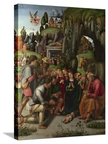 The Adoration of the Shepherds, C. 1496-Luca Signorelli-Stretched Canvas Print