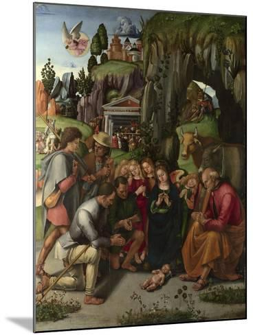 The Adoration of the Shepherds, C. 1496-Luca Signorelli-Mounted Giclee Print