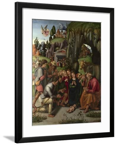 The Adoration of the Shepherds, C. 1496-Luca Signorelli-Framed Art Print