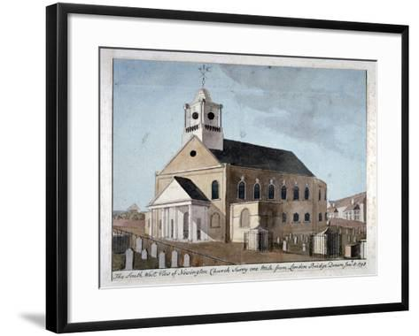 South-West View of the Church of St Mary Newington, Newington Butts, Southwark, London, 1798--Framed Art Print