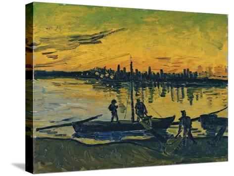 The Stevedores in Arles, 1888-Vincent van Gogh-Stretched Canvas Print