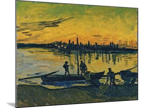 The Stevedores in Arles, 1888-Vincent van Gogh-Mounted Giclee Print