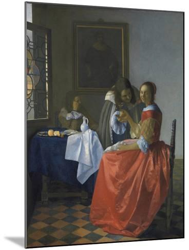 The Girl with the Wineglass-Johannes Vermeer-Mounted Giclee Print