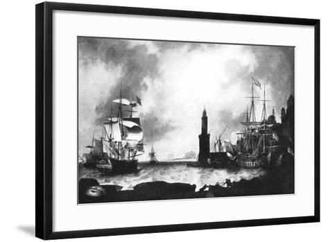 Arrival of HMS 'Vanguard'--Framed Art Print