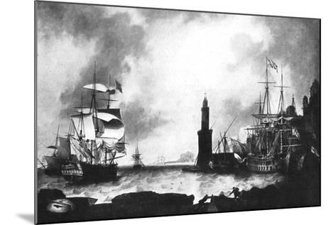 Arrival of HMS 'Vanguard'--Mounted Giclee Print