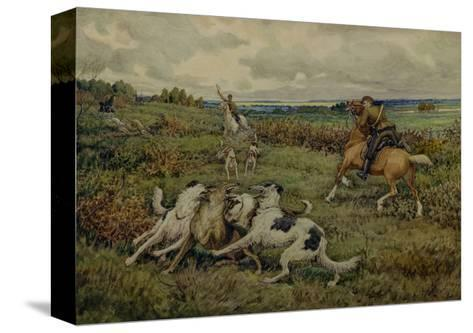 Hunting with Borzois, 1937-Ernest Ernestovich Lissner-Stretched Canvas Print