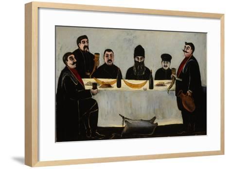 Six Princes (Feas), 1905-1907-Niko Pirosmani-Framed Art Print