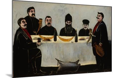 Six Princes (Feas), 1905-1907-Niko Pirosmani-Mounted Giclee Print