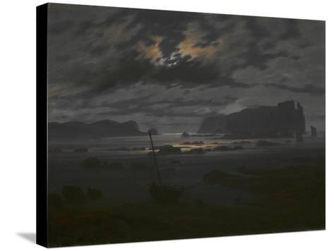 Northern Sea in the Moonlight, C. 1823-Caspar David Friedrich-Stretched Canvas Print
