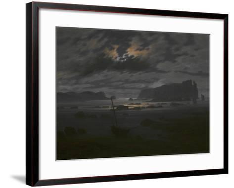 Northern Sea in the Moonlight, C. 1823-Caspar David Friedrich-Framed Art Print