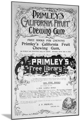 Advert for Primley's California Fruit Chewing Gum, 1894--Mounted Giclee Print
