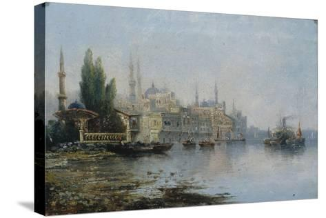 Istanbul as Seen from the Bosphorus, Second Half of the 19th C--Stretched Canvas Print