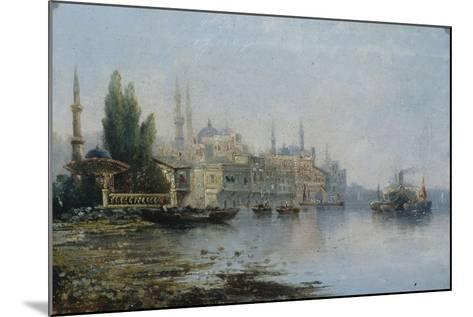Istanbul as Seen from the Bosphorus, Second Half of the 19th C--Mounted Giclee Print