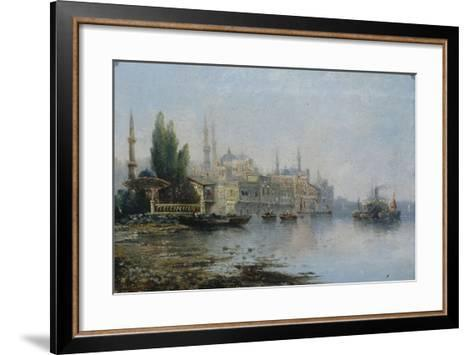 Istanbul as Seen from the Bosphorus, Second Half of the 19th C--Framed Art Print