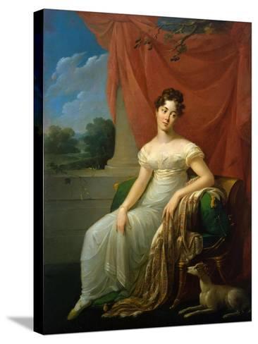 Portrait of Sofia Apraxina, 1818-Henri-Françoiss Riesener-Stretched Canvas Print