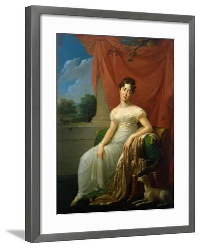 Portrait of Sofia Apraxina, 1818-Henri-Françoiss Riesener-Framed Art Print