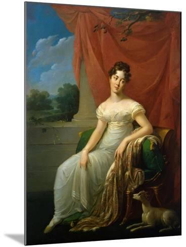 Portrait of Sofia Apraxina, 1818-Henri-Françoiss Riesener-Mounted Giclee Print
