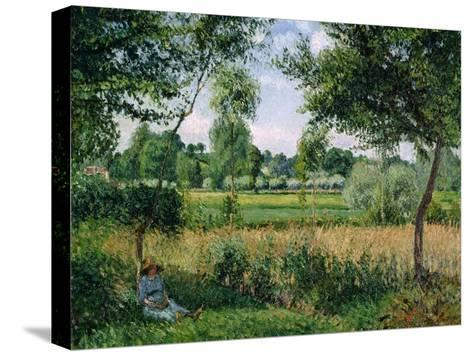 Morning Sunlight Effect, Eragny, 1899-Camille Pissarro-Stretched Canvas Print