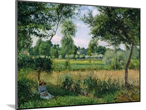 Morning Sunlight Effect, Eragny, 1899-Camille Pissarro-Mounted Giclee Print