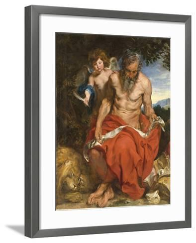 Saint Jerome, 1618-1619-Sir Anthony Van Dyck-Framed Art Print