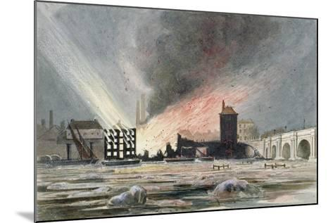 Destruction of Sir C Price's Oil Warehouse and Wharf, William Street, Blackfriars, London, 1845--Mounted Giclee Print