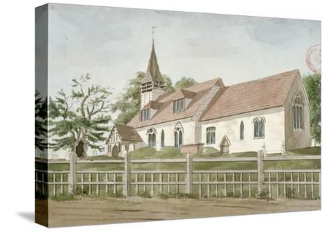 Church of St Mary, Norwood, Middlesex, C1800--Stretched Canvas Print