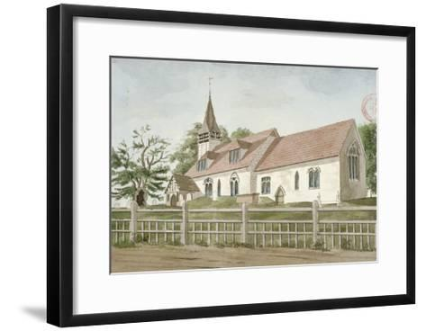 Church of St Mary, Norwood, Middlesex, C1800--Framed Art Print