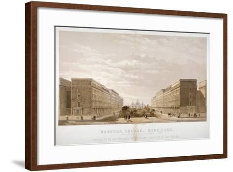 House Agent's Advertisement for Properties in Norfolk Square, Paddington, London, C1870-Day & Son-Framed Art Print