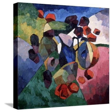 Blue Jug and Fruits, 1913-Aristarkh Vasilyevich Lentulov-Stretched Canvas Print