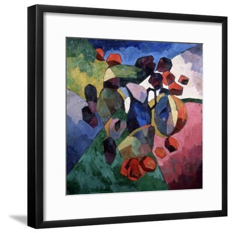 Blue Jug and Fruits, 1913-Aristarkh Vasilyevich Lentulov-Framed Art Print