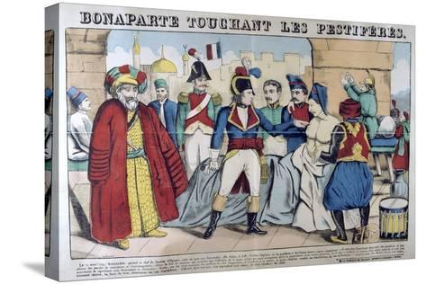 Napoleon Bonaparte Visiting the Plague Stricken of Jaffa, 11th March 1799, 19th Century--Stretched Canvas Print