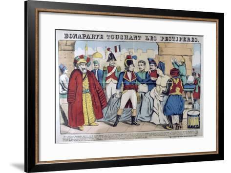 Napoleon Bonaparte Visiting the Plague Stricken of Jaffa, 11th March 1799, 19th Century--Framed Art Print