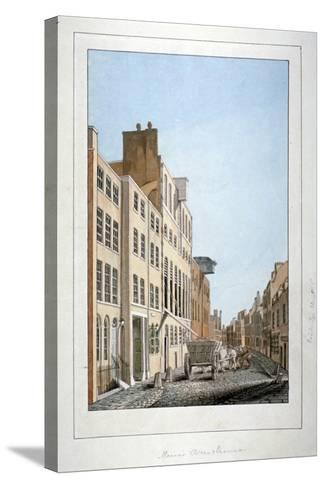 View of Meux's Brewery and a Horse and Cart in Clerkenwell Road, Finsbury, London, C1805--Stretched Canvas Print