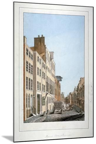 View of Meux's Brewery and a Horse and Cart in Clerkenwell Road, Finsbury, London, C1805--Mounted Giclee Print