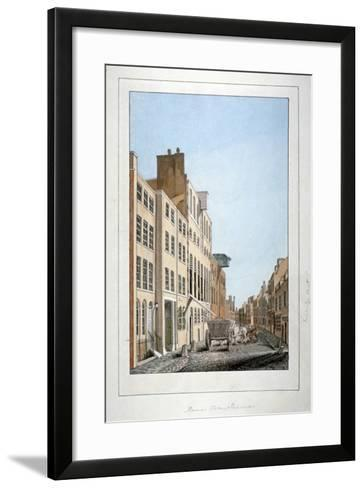 View of Meux's Brewery and a Horse and Cart in Clerkenwell Road, Finsbury, London, C1805--Framed Art Print